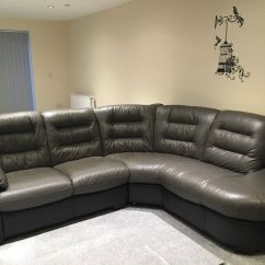 Corner Sofa And Swivel Chair Used Nursing Italian Leather With Footstall