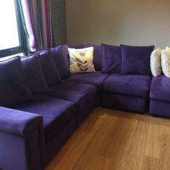 Purple Corner Sofa Bed Recamier Montreal Set Keerthi Furniture Kochi