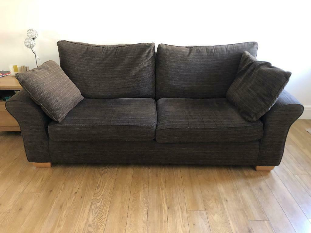 sofa warehouse leicestershire grey microsuede bed large 3 seater for sale must go in hinckley