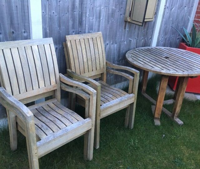 Wooden Folding Garden Table With  Chairs Free Delivery In Liverpool