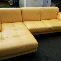 Leather Sofas Second Hand Glasgow Modern L Shaped Sofa Philippines Yellow Corner Great Condition In Southside