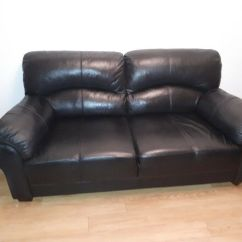 Black Leather Sofas On Gumtree Throw Pillows For Burgundy Sofa 3 Seater In Andersonstown Belfast