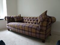 tartan chesterfield sofa sandby cover newport in fife stuff for sale gumtree stunning