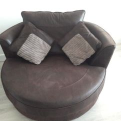 Swivel Cuddle Chair York Fisher Price Feeding Brown Leather In North Yorkshire Gumtree