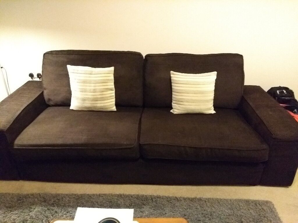 sofa ikea kivik opiniones sears and chair covers 3 seater brown in bedford bedfordshire gumtree