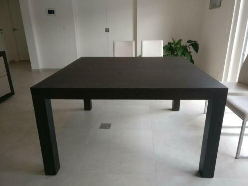 table carree brun fonce 140 x 140 cm tables tables a manger 2ememain