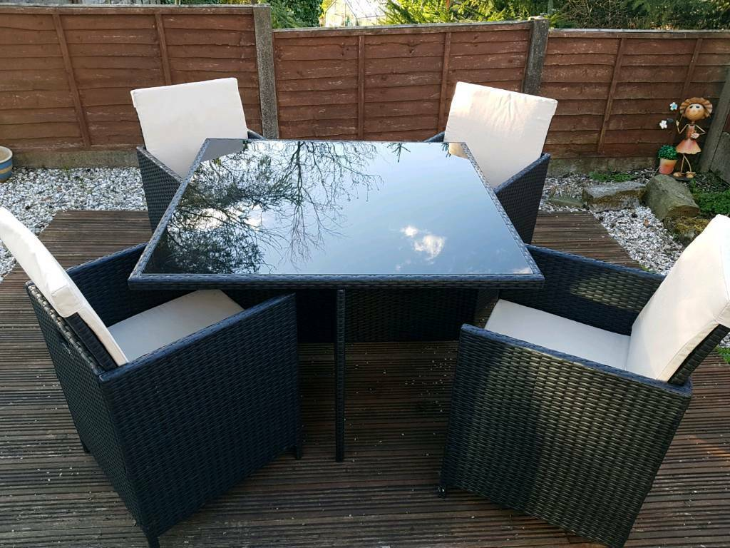Cube Rattan Effect 4 Seater Garden Furniture Set In Rossendale Lancashire Gumtree