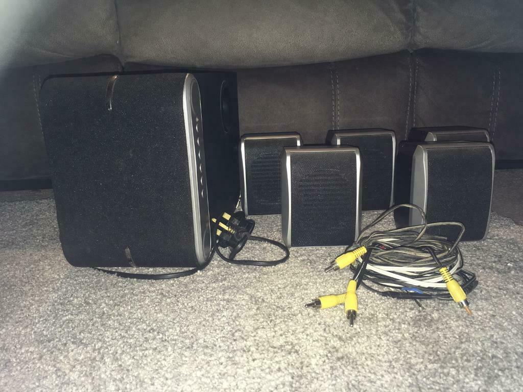 hight resolution of asda 5 1 home theatre system sp550 surround sound speakers