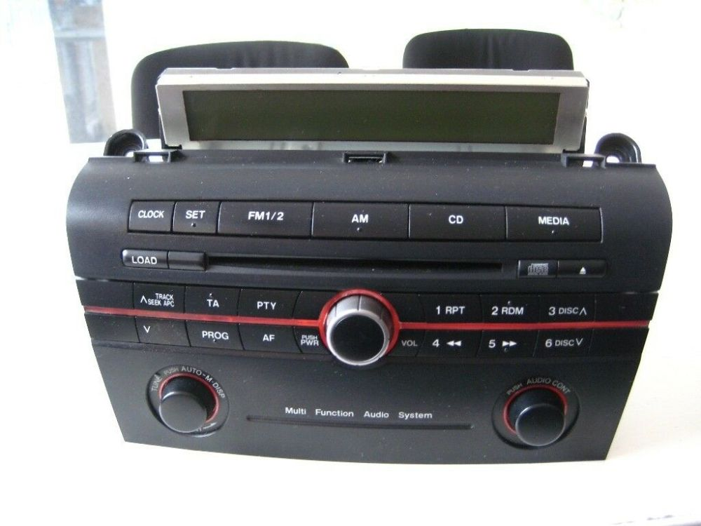 medium resolution of mazda 3 single cd factory audio head unit with aux connection upgrade