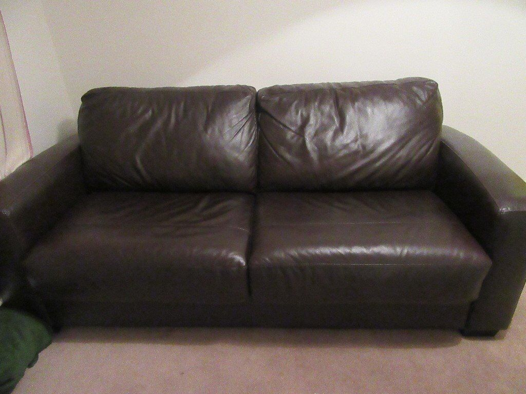 These tips should help you make a sma. Dark brown leather sofa bed from Furniture Village for ...