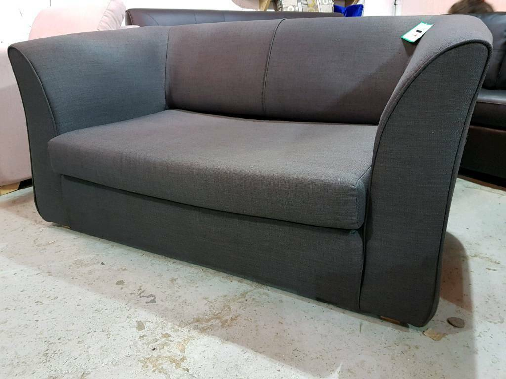 2 seater love chair best computer under 100 new grey fold out sofa bed snuggle seat delivery available
