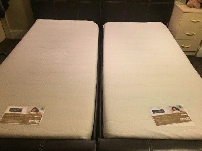 2 Single Bedemory Foam Mattress For