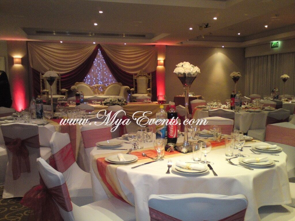 wedding chair cover hire west yorkshire floating chairs for pool cutlery 30p reception head table decor 299 mendhi stage decoration covers in eltham london gumtree