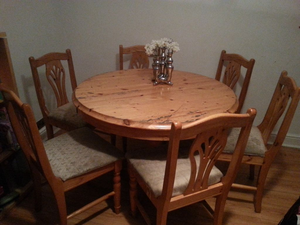 dining room table and chairs gumtree custom chair manufacturers extendable 6 in lewisham london