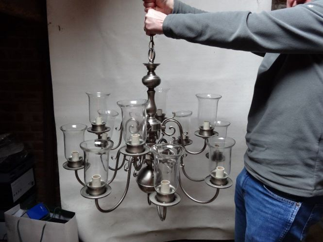Chelsom Flemish Chandelier And Wall Lights Brushed Pewter Finish Cost 3900