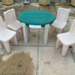 Step2 Table And Chairs With Umbrella Lowes Folding Step 2 Children 39s Plastic Oval 4 In