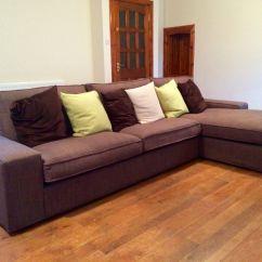 Kivik Sofa Chaise Interior Design Tan Leather Ikea Three Seat And Longue Isunda Brown