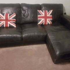Black 3 Seater Sofa And Cuddle Chair Best Sleeper Sectional Leather 2 Seat Corner In Grimsby