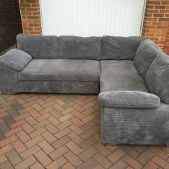 Grey Fabric Corner Sofa Bed Blue Velvet Chesterfield In Hemel Hempstead