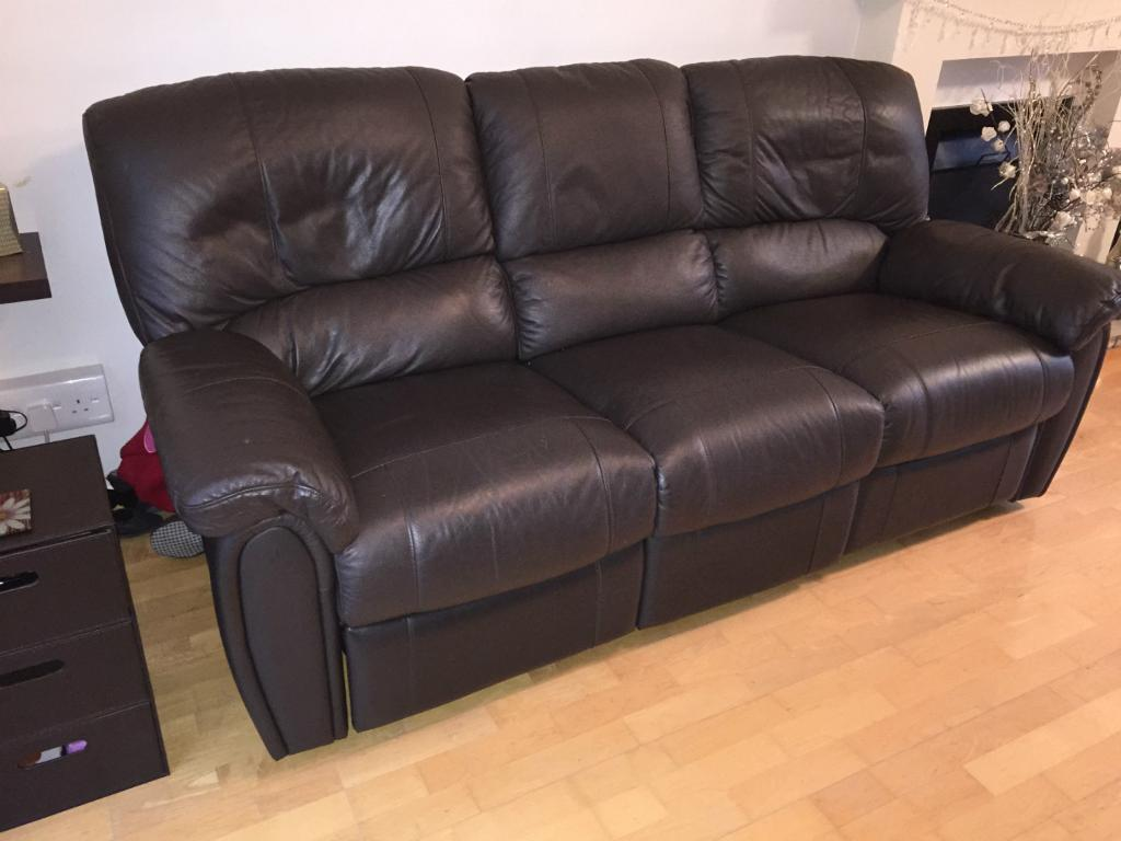 harveys 3 seater recliner sofa bassett table santiago reclining leather sofas x2 in andover