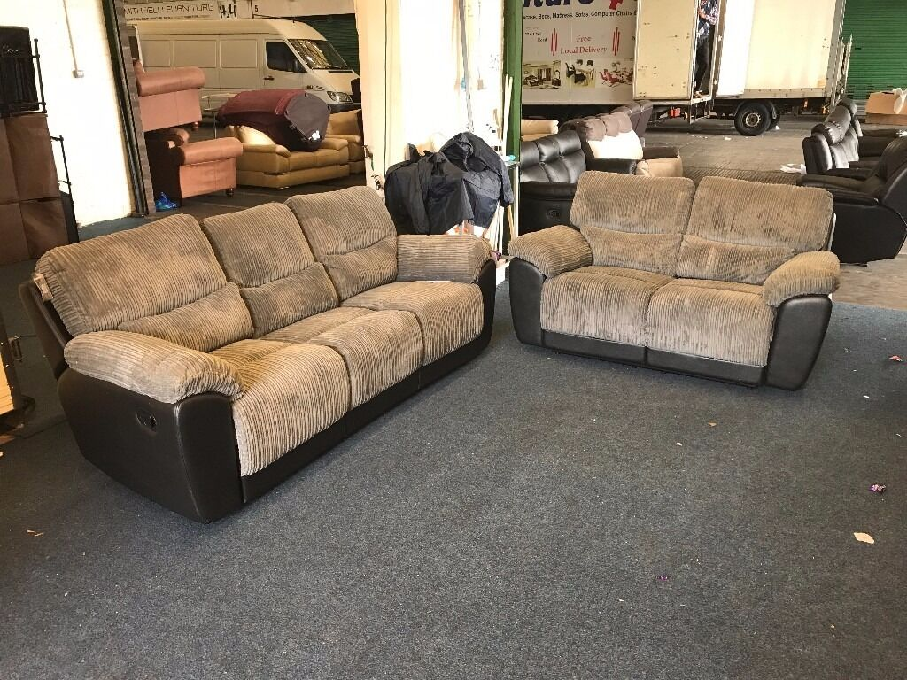 sienna sofa tetrad furniture village littlewoods grey cord fabric 3 and 2 seater recliner half black leather three plus two