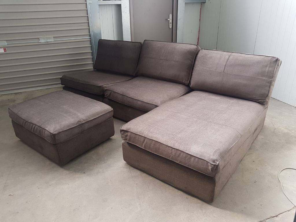 grey fabric corner sofa bed craigs list couch 43 footstool can deliver in