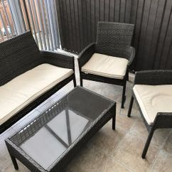 Garden Chair Covers Homebase Folding Beds Foam 2 Mali Rattan Conservatory Furniture Set