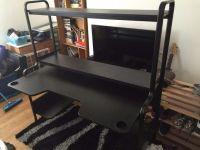 Chris Dillon Black Gaming Desk from Ikea.