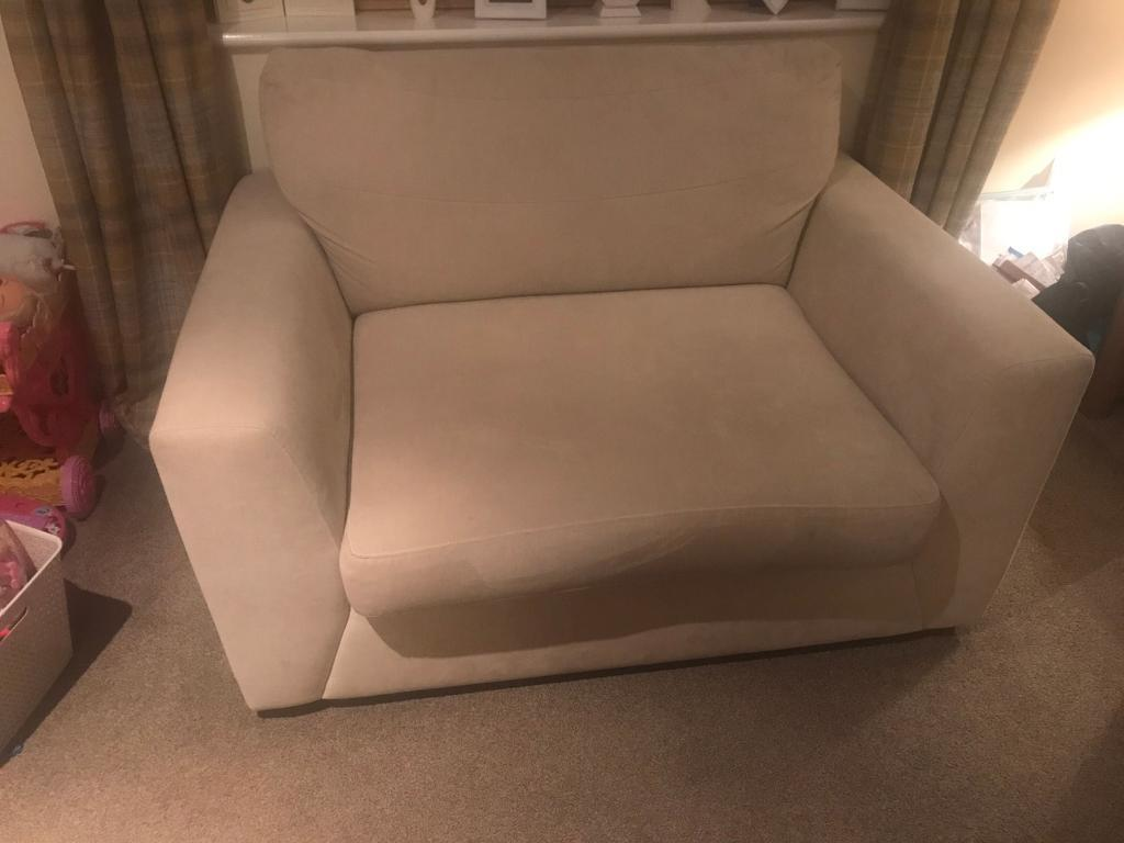 2 seater love chair vitra miniature collection snuggle seat cream dfs in ferryhill county