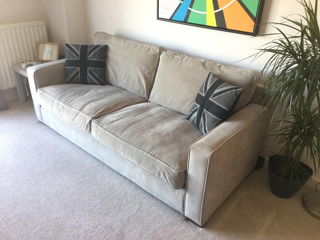 sofa beds sydney gumtree selber machen paletten grey 3 seater from harveys in larkfield