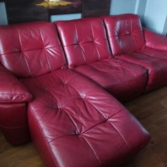 Free Sofa Uplift Glasgow Sectional Sales Near Me Dfs Claret Red Leather 3 Seater Chaise And Chair In