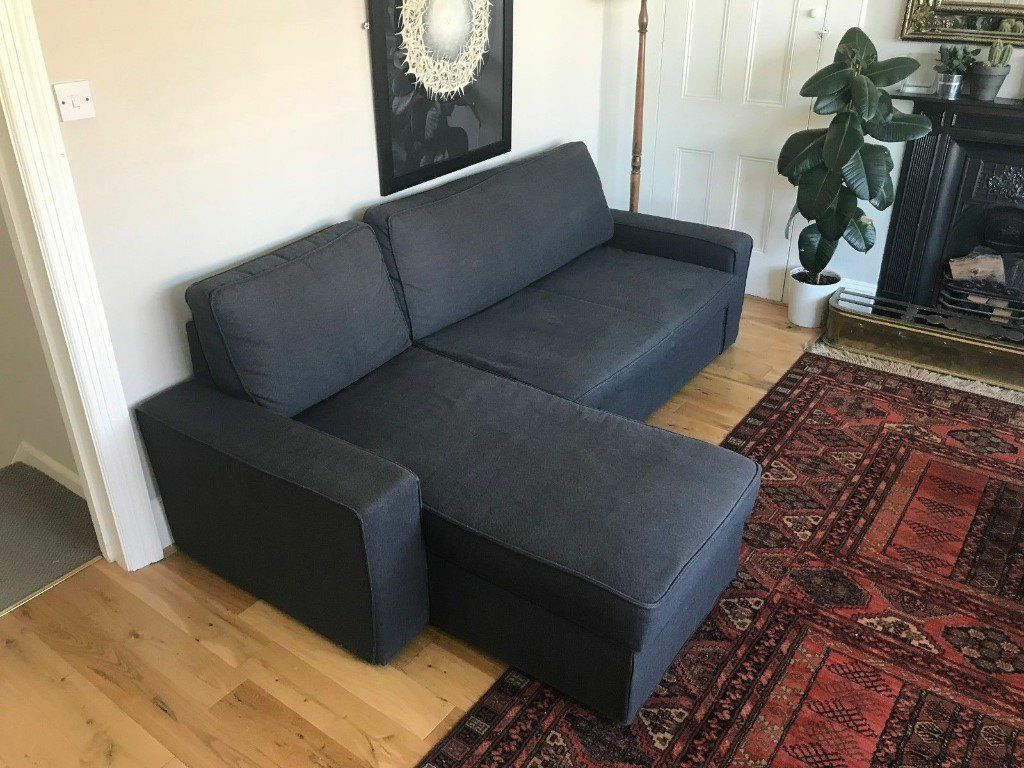 large dark grey corner sofa leather with chaise sofabed 4 weeks old https i ebayimg com 00 s nzy4wdewmjq