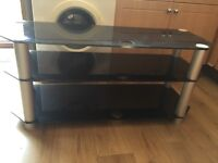 Kenwood Micro Hifi System With Solid Tv Stand In Kettering
