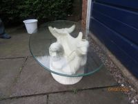 glass topped dolphin coffee table | in Northfield, West ...