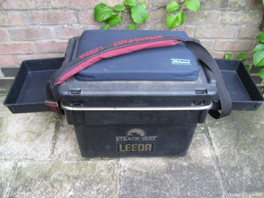 fishing chair box executive chairs leather steade fast leeda tackle seat in billericay