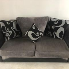 Black 3 Seater Sofa And Cuddle Chair High End Sets Grey In Paisley Renfrewshire