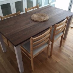 Ikea Wooden Dining Table 4 Chairs Beach For Large Person Dinning Kejsarkrona Oak White With X