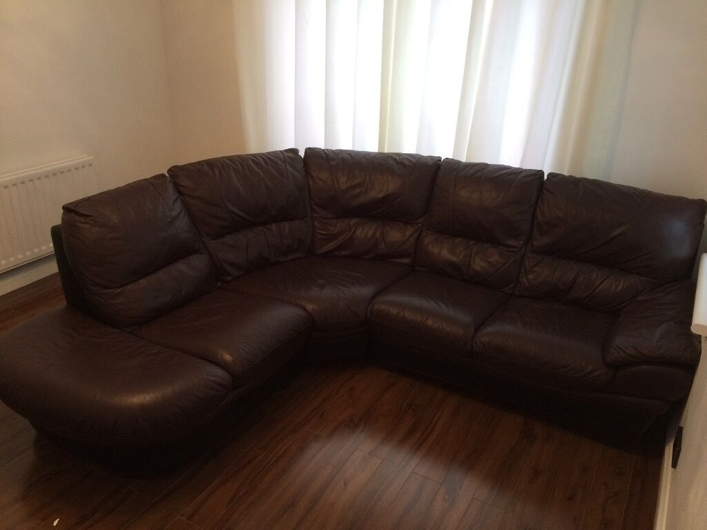 dfs brown half leather corner sofa outlet liverpool browne a foot rest storage in