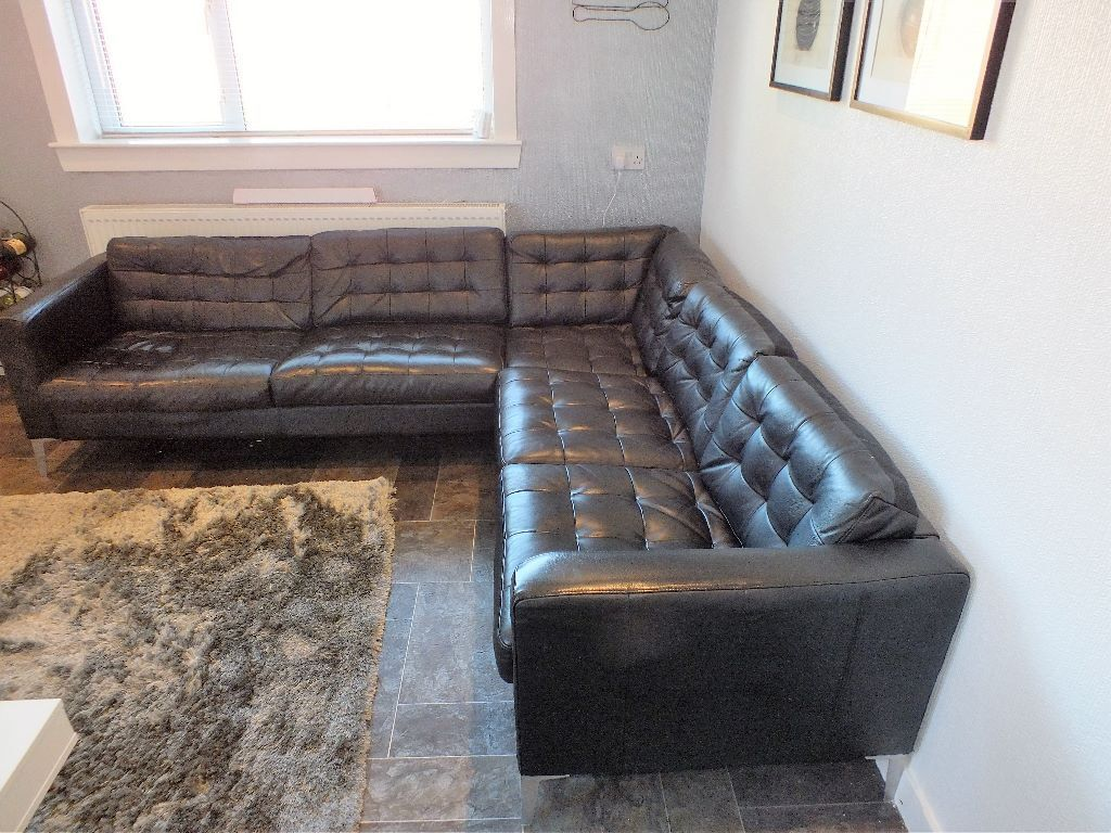 black leather sofas on gumtree u sofa uk corner in darvel east ayrshire