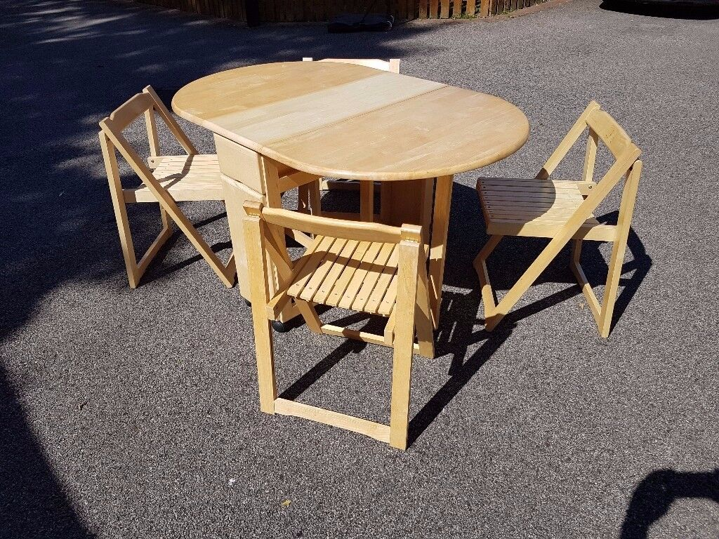 rubberwood butterfly table with 4 chairs folding chair and set solid free delivery 664