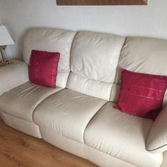 Sofa Manufacturers Glasgow Henredon Slipcovers Natuzzi Cream Leather In Uddingston Gumtree