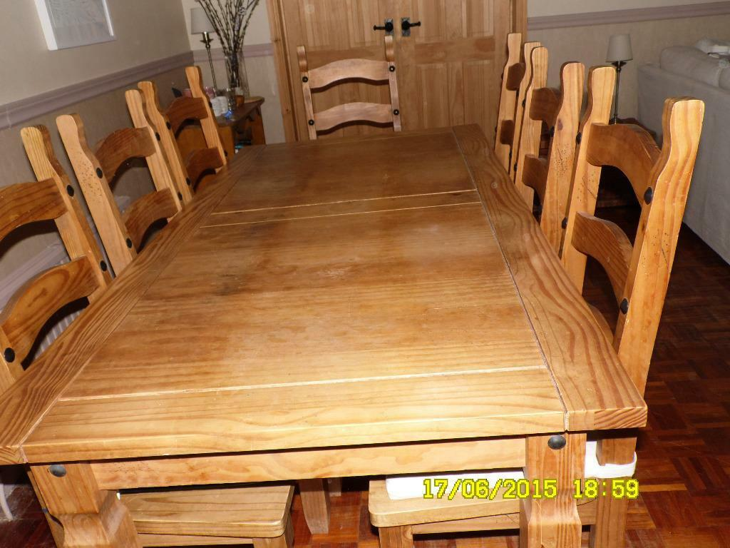 mexican dining room table and chairs indoor bistro style pine corner tv unit