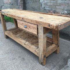Kitchen Workbench Remodel Cost Bay Area Vintage Rustic Island Counter In St Neots