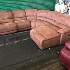 Leather Sofas Second Hand Glasgow Sofa Set Designs Photo Gallery Harvey 39s Guvnor Recliner Brown Leathair Suede Type Fabric