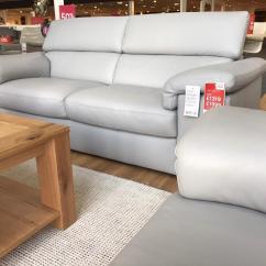 Grey Leather Sofas Harveys Restoration Hardware Craigslist Harvey 39s Liberata Real 3 And 2 Seater Sofa