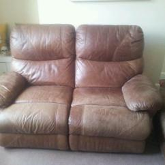 Two Seater Recliner Sofa Gumtree Small Red Leather Sectional 3 And 2 Sofas In Pontefract
