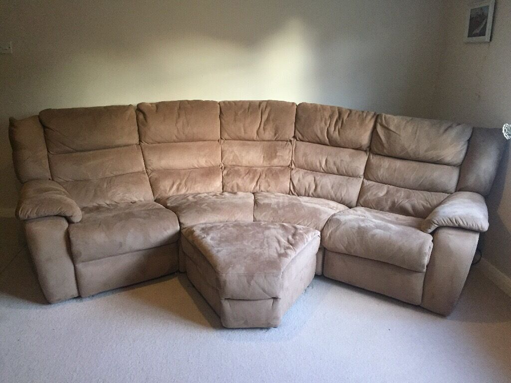 4 seater curved electric recliner sofa settee  in