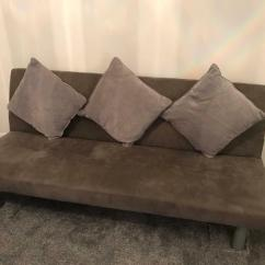 Faux Suede Sofa Cleaning Instructions Power Recliner Issues Grey Bed In Woodley Berkshire Gumtree