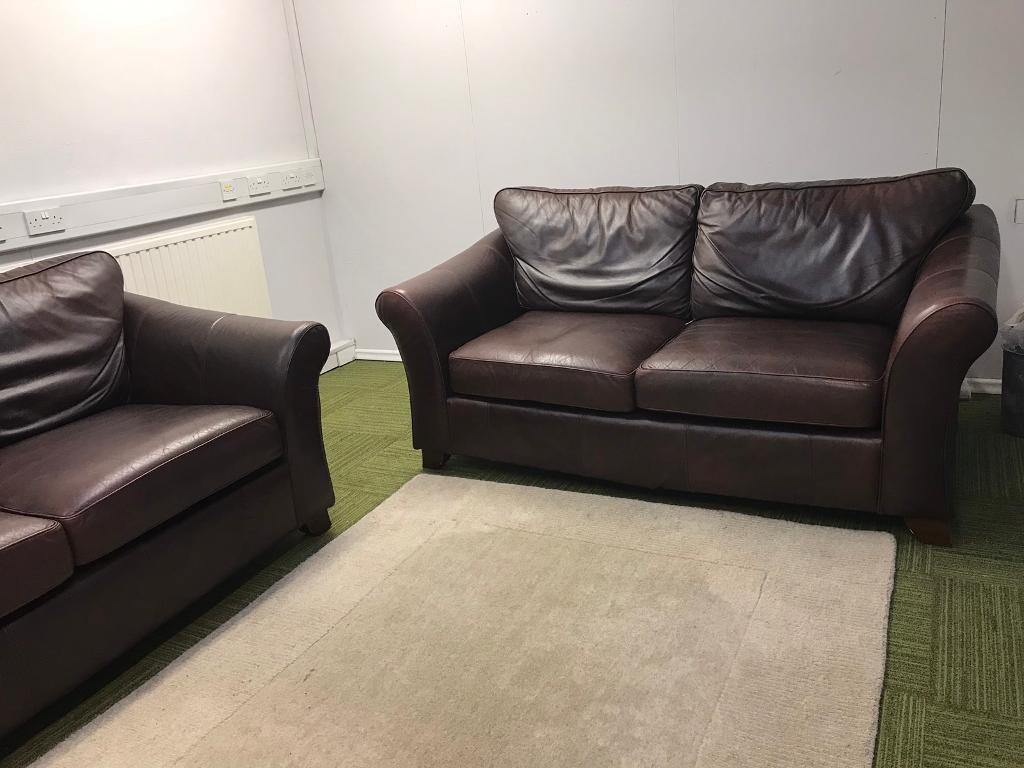 sofa shops glasgow city centre rent a center sofas gorgeous chocolate brown leather marks and spencer s suite 2 x 3 seater in gumtree