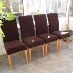 Bedroom Chair Gumtree Ferndown Posture Guidance Four High Quality Velour Dining Chairs In Excellent Condition